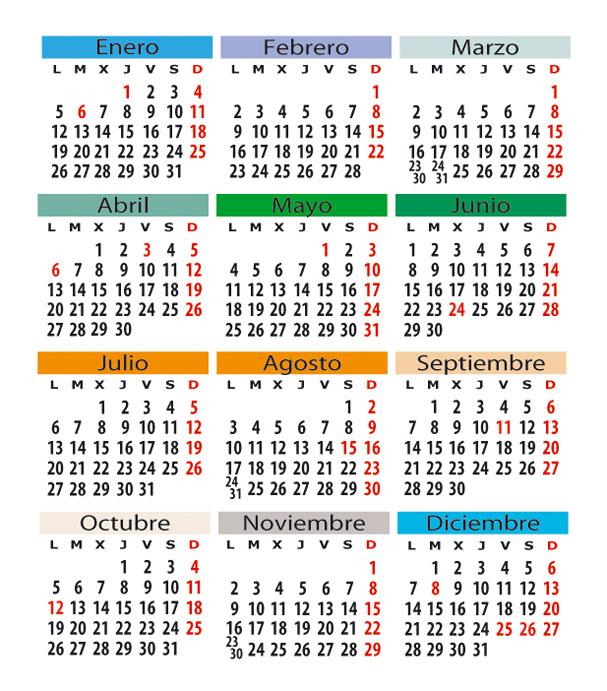 Calendario Laboral De Cataluna.Calendario Laboral En Espana
