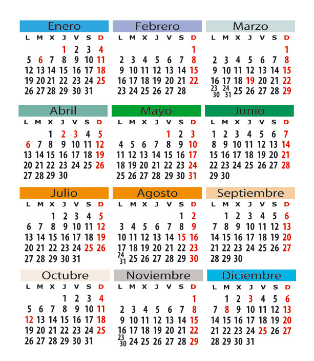 Calendario Laboral Navarra.Calendario Laboral En Espana