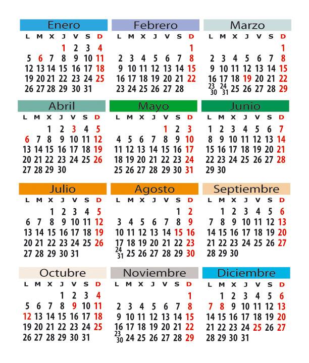 Calendario Laboral De Valencia.Calendario Laboral En Espana