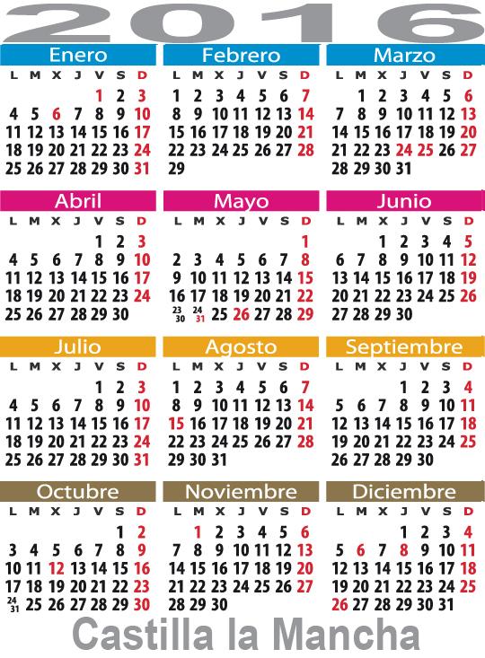 Calendario Laboral Castilla la Mancha